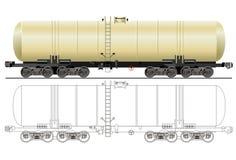Vektorbenzin-Tankerauto lizenzfreie abbildung