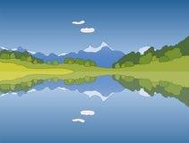 Vektorberglandskap stock illustrationer