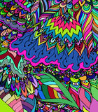 Vektorbeschaffenheit mit abstrakten Blumen Bunte Schablone des Sommers Lizenzfreie Stockfotos