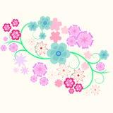 Beståndsdel av blommakrullningen Vektor Illustrationer