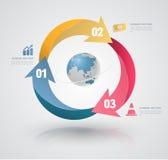 Vektorbeståndsdelar för infographic Royaltyfria Foton