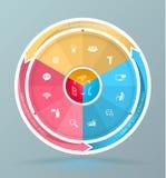 Vektorbeståndsdelar för infographic Arkivbilder