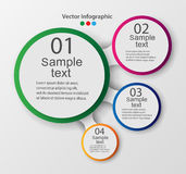 Vektorbeståndsdelar för infographic Mall för diagram, graf, presentation och diagram Royaltyfria Bilder