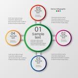 Vektorbeståndsdelar för infographic Mall för diagram, graf, presentation och diagram Royaltyfri Foto