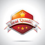 Vektorbeste Qualität beschriftet Abbildung mit glänzender angeredeter Auslegung Lizenzfreies Stockfoto