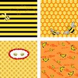 Vektorbienenwabehintergründe Stockfotografie