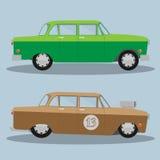 Vektorbil och Hotrod 10 eps Arkivfoto