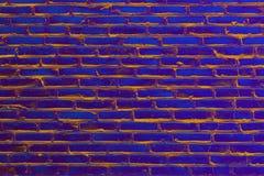 Vektorbild, Abbildung Alte Backsteinmauerbeschaffenheit getont in der ultravioletten Farbe Stockfoto