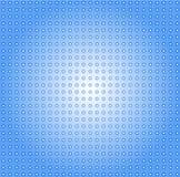 Vektorbild av blåa punkter och cirklar royaltyfri illustrationer