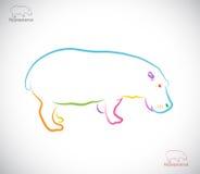 Vektorbild av en flodhäst Royaltyfri Fotografi
