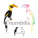 Vektorbild av en hornbill royaltyfri illustrationer