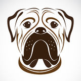 Vektorbild av en hund (bulldoggen) Royaltyfria Foton