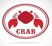 Vektorbild av en krabba royaltyfri illustrationer