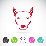 Vektorbild av ett hundhuvud Arkivfoton