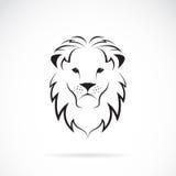 Vektorbild av ett lejonhuvud Fotografering för Bildbyråer