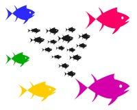Vektorbild av fisken stock illustrationer