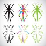 Vektorbild av gräshoppor Royaltyfri Foto