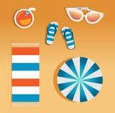 Vektorbild av strandtillbehör royaltyfri illustrationer