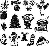 Vektorbild av symboler av jul vektor illustrationer
