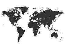 Vektorbild av världskartan royaltyfri illustrationer