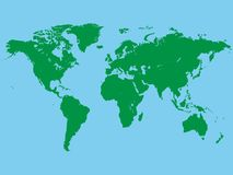 Vektorbild av världskartan stock illustrationer