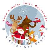 Vektorbild der frohen Weihnachten Stockfoto