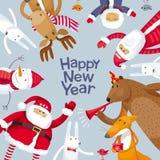 Vektorbild der frohen Weihnachten Stockbilder