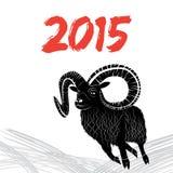 Vektorbild der Ziege oder der Schafe Stockfotos