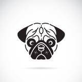Vektorbild des Gesichtes des Pugs Lizenzfreie Stockfotos