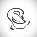 Vektorbild einer Ente Lizenzfreie Stockfotografie