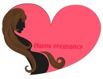 Vektorbild einer Frau mit dem langen Haar kann als Fahne und Visitenkarten verwendet werden Stockfotos