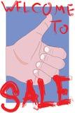 Vektorbild einer Hand Stockfotos