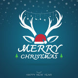 Vektorbild einer Weihnachtsgrußkarte Lizenzfreie Stockfotografie