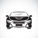 Vektorbild eines Autodesigns auf weißem Hintergrund Stockbild