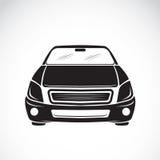 Vektorbild eines Autodesigns auf weißem Hintergrund Lizenzfreie Stockfotos