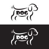 Vektorbild eines Hundedesigns Stockbild