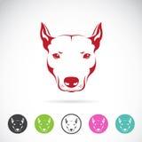 Vektorbild eines Hundekopfes Stockfotos