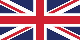 Vektorbild für die Flagge Vereinigten Königreichs stock abbildung