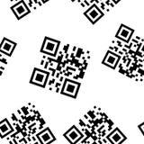 Vektorbild ist ein Beispiel eines QR-Codes f?r das Ablesen von Informationen durch einen Smartphone oder einen Handy, Tablette QR lizenzfreie abbildung