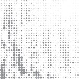 Vektorbild von grauen Punkten von verschiedenen Größen haben unterschiedliche Dichte auf dem Weiß stock abbildung