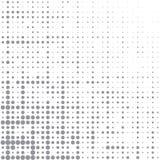 Vektorbild von grauen Punkten von verschiedenen Größen haben unterschiedliche Dichte auf dem Weiß vektor abbildung