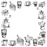Vektorbilder av kaffe stock illustrationer