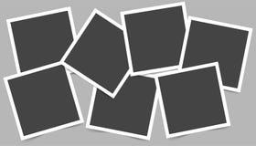 Vektorbilduppsättning av fyrkantramar för foto Symboler av den tomma reaen vektor illustrationer