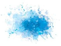 Vektorblau, das Fleck spritzt Stockbilder