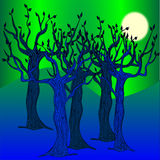 Der blaue Wald Lizenzfreies Stockbild