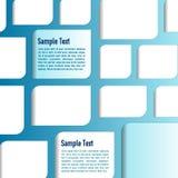 Vektorblauer Hintergrund mit Weißbüchern Lizenzfreie Stockfotos