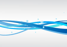 Vektorblauer Hintergrund mit Wellen Lizenzfreie Stockfotografie