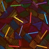 Vektorbleistiftanschläge Von Hand gezeichnete Linien Lizenzfreie Stockbilder