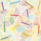 Vektorbleistiftanschläge Von Hand gezeichnete Linien Stockfotos