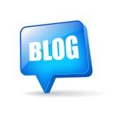Vektorblogblase Lizenzfreies Stockbild
